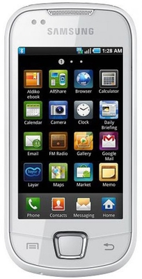 Samsung I5801 White, with 2 GB Micro SD Card 4000 off